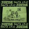 "Split 10"" Justine + Santa Cruz Cover Art"