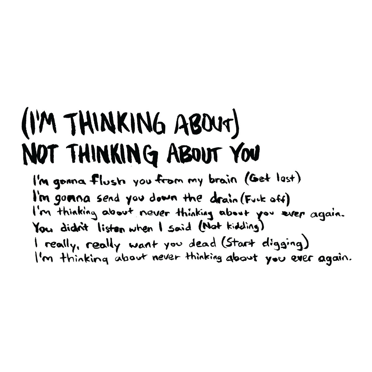 I'm Thinking About) Not Thinking About You | Bookmobile!