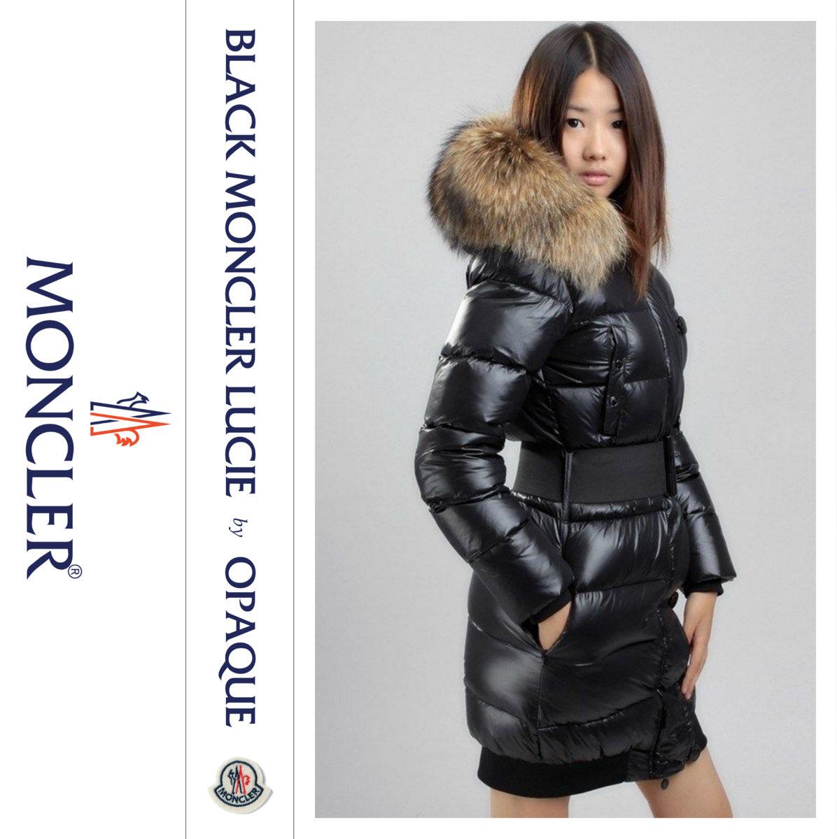 Black Moncler Lucie | opaque