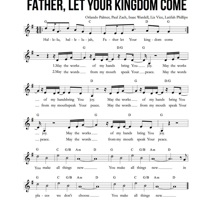 Father Let Your Kingdom Come Feat Urban Doxology Liz Vice And