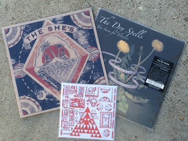 """The She's -  Dreamers, 12"""" EP + The Dry Spells - Too Soon for Flowers, LP + Split 7"""" Bundle main photo"""