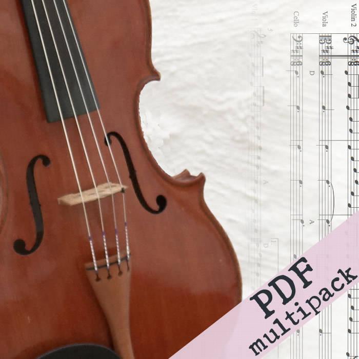 SHEET MUSIC BUNDLE - Irish fiddle tune harmony arrangements for