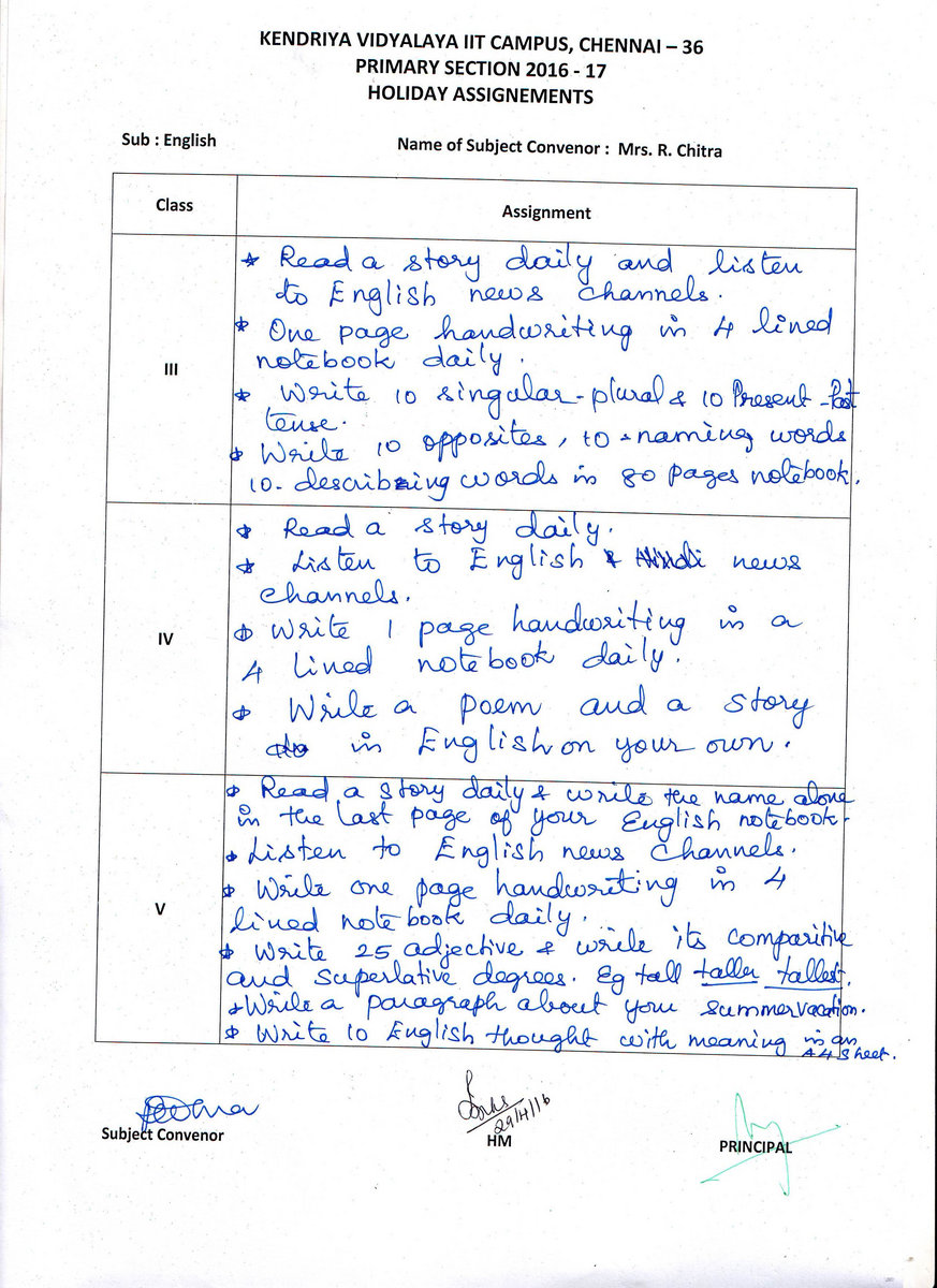 khaitan public school summer holiday homework
