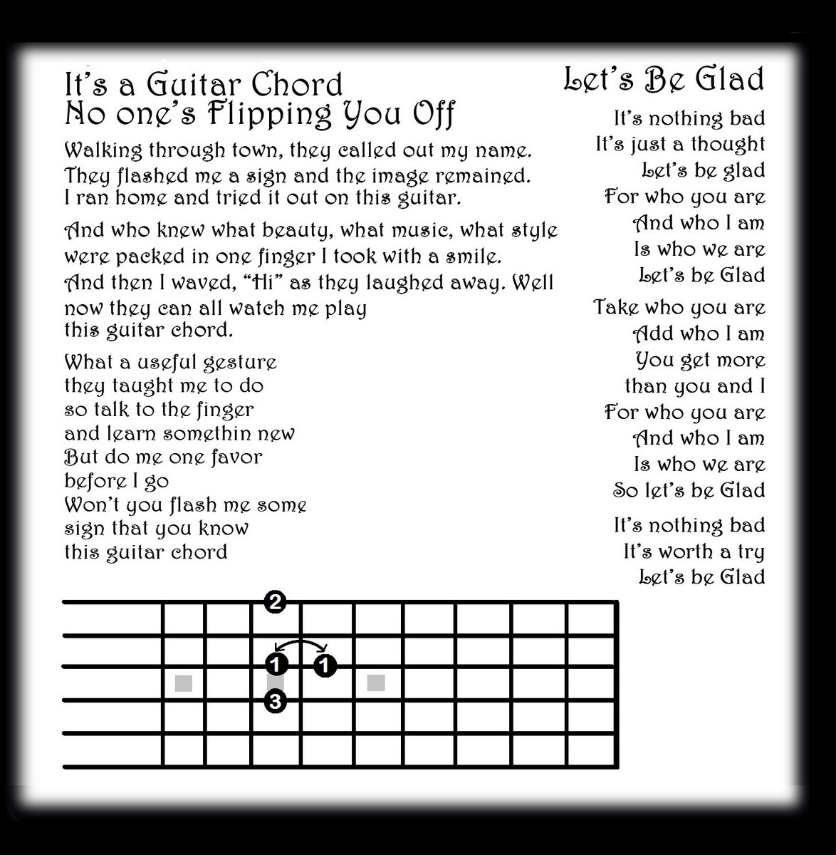 Its A Guitar Chord No Ones Flipping You Off Ric Alba