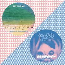 "Say Sue Me/Otoboke Beaver Split 7"" Single cover art"