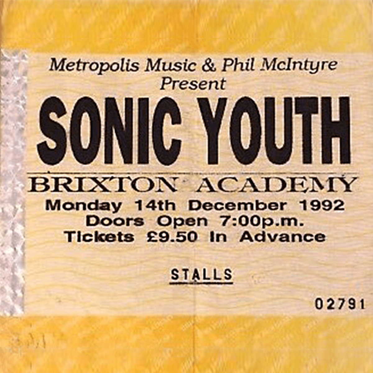 Live At Brixton Academy 1992  Sonic Youth