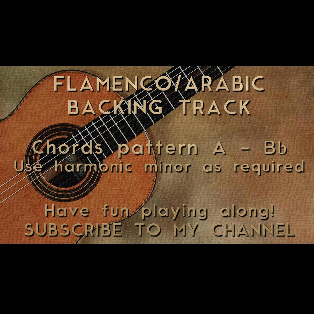 Backing Track Flamenco Arabic Harmonic Minor A Bb Nick Neblo