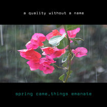 spring came, things emanate - wildsilences vocal mix cover art