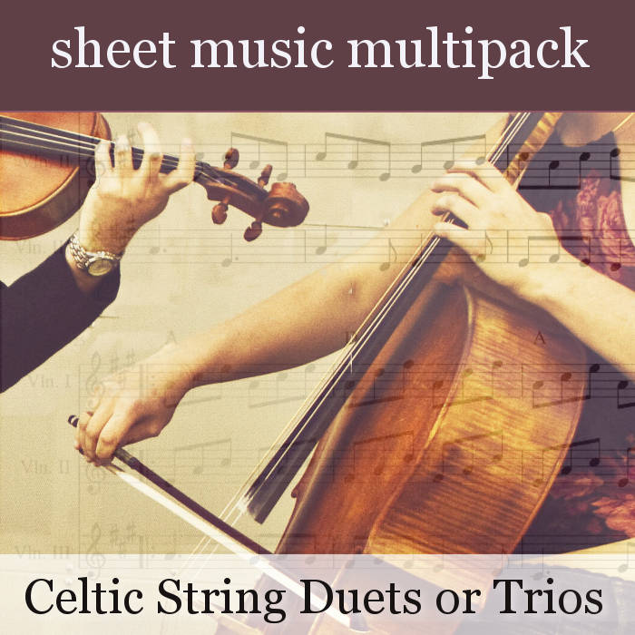 Celtic Harmony Sheet Music - String Trios or Duets Multipack for