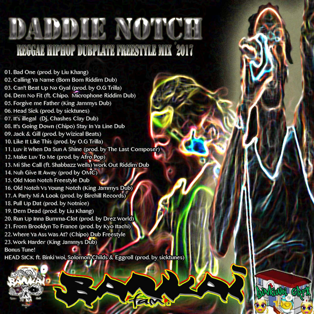 Reggae-HipHop Dubplate Freestyle MixTape 2017 by Daddie