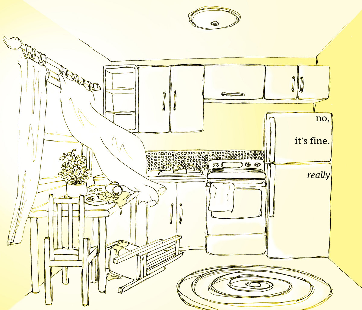 Tiny Yellow Kitchen
