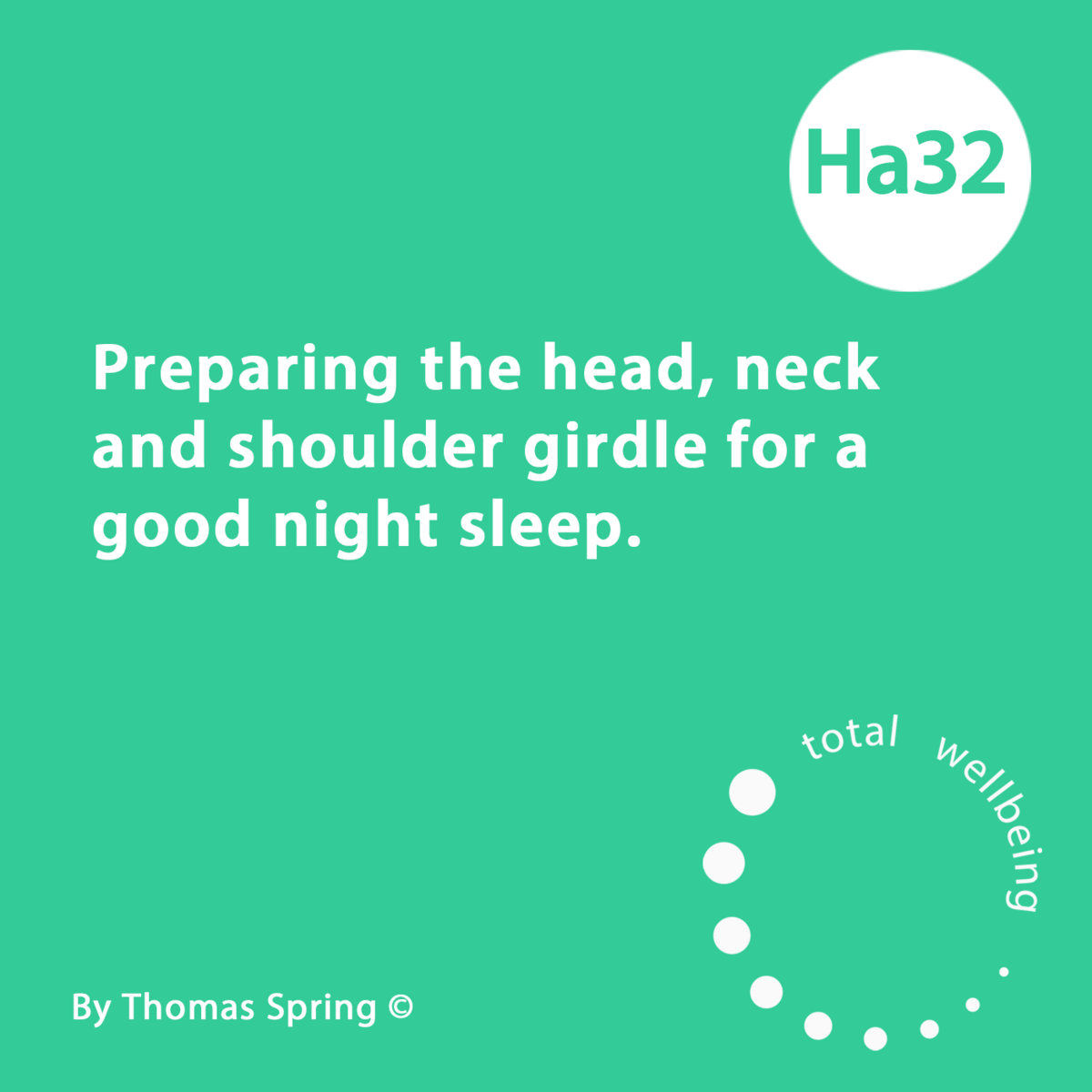 Ha32 Preparing The Head Neck And Shoulder Girdle For A Good Night Sleep