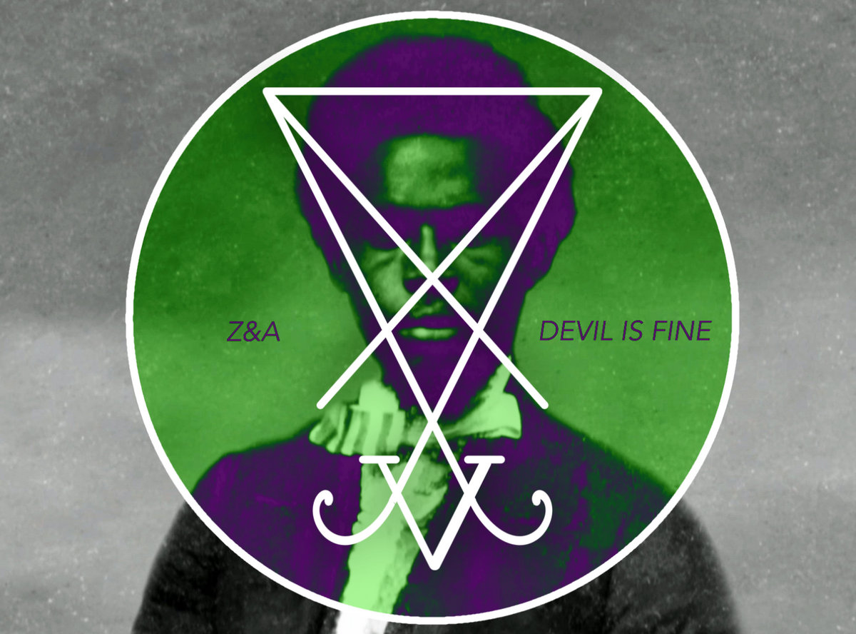 A black man dressed in early American dress. A circular green field of color overlays most of the image, bounded by a white border and overlain with the sigil of Lucifer in Asia from the Grimorium Verum.