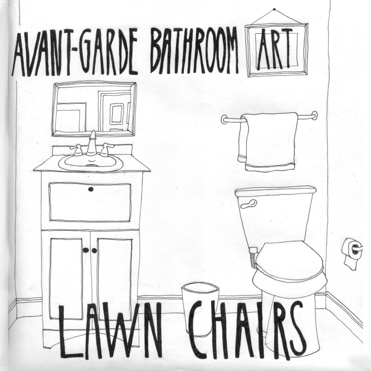 Avant garde bathroom art lawn chairs for Bathroom s bandcamp