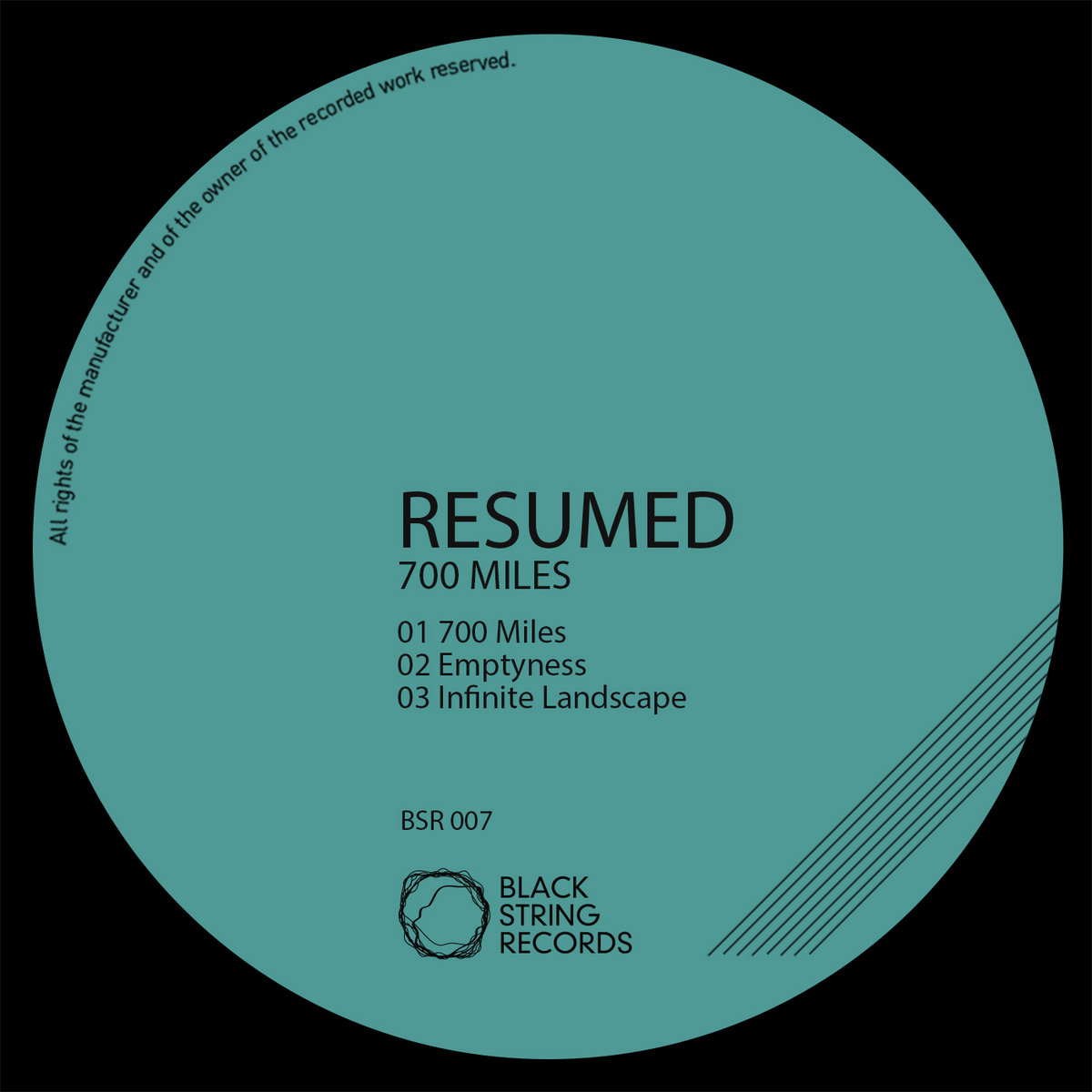 bsr007 resumed 700 miles ep black string records