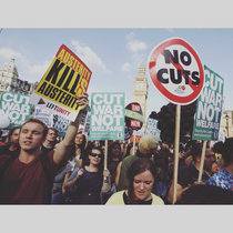 Corbyns Cuts (stop the cuts) - single cover art