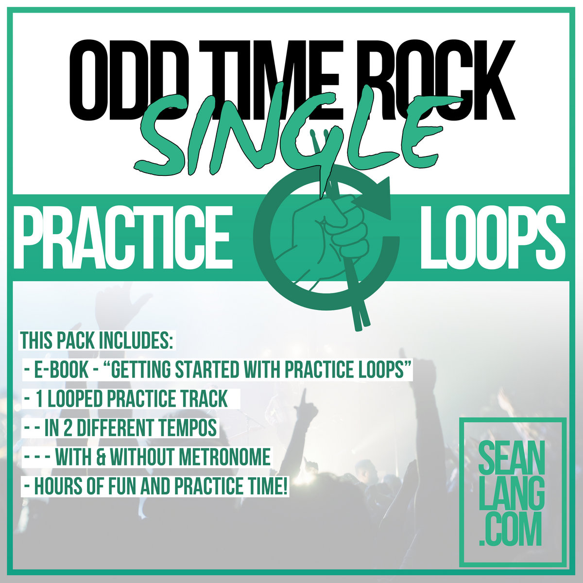 Odd Time Rock - Not Quite Cloud 9 - 120 bpm with click | Sean Lang
