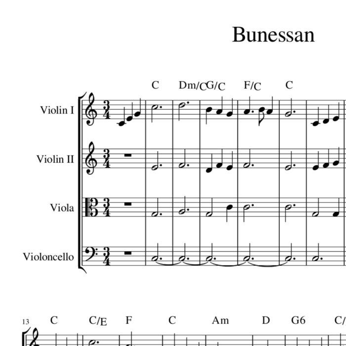 Bunessan / Morning Has Broken - celtic hymn tune sheet music ...